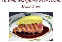 Restaurant Au Petit Marguery Rive Droite, menus / Découvrez nos offres de menus, valorisant la cuisine traditionnelle française et ses spécialités