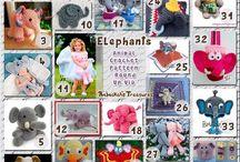 Elefanti - Elephants Crochet