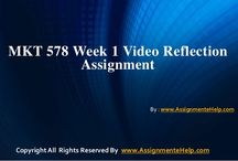 MKT 578 Week 1 Video Reflection Assignment