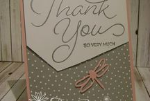 Thank You cards using Stampin Up! products