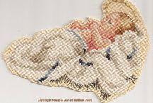 Cross stitch Little Jesus