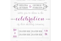 Wedding paper product collections in several colors / Here you will find modern and stylish wedding invitation designs and other paper wedding products. Each design in different color combinations.  / by Modern and stylish weddings