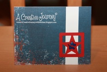 4th of July/Patriotic / Check out my blog at http://acreativejourneywithmelissa.blogspot.com/ or check out my Facebook Business Page at https://www.facebook.com/pages/A-Creative-Journey/146653672077197 for more ideas and inspiration or allow us to create for you today!