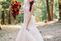Colourful Wedding Dresses / Sometimes a little pop of colour can make all the difference.