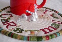 Mug rugs / Quilted mug rugs