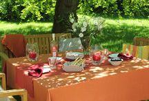 Soir d'été pour la table / Soir d'été vous propose du linge de table dans de nombreux coloris pour varier les styles et les ambiances au gré de vos envies.