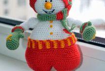 Talvisia hahmoja / Different ways of making snowmen