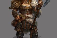 D&D female dwarf character