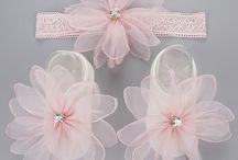 Newborn Baby Flower Socks & Matching Headband