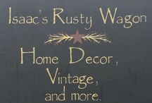 Isaac's Rusty Wagon / Primitive vintage shop.  421 South Pershing (Hwy 148) Energy, IL. 62933 Open Tues-Sat 10am to 5pm.