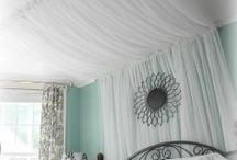 COZY AWESOME BEDROOMS / Canopies , lights, rugs, bedding etc