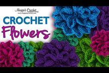 crochet blomst video