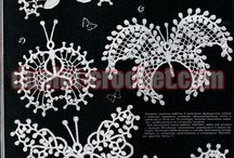 Crochet butterflies patterns / These great and unique butterflies can be used to decorate any spectacular dress or top. Also good to create framed pictures for wall decor and even crochet rugs.