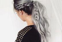 fehér fonott haj :3