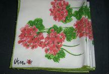 Vintage Vera Lady Bug Hydrangea Napkins, Mint