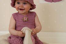 Drops virkattu vauvan mekko