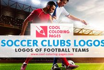 Soccer clubs logos / Soccer clubs logos coloring pages for kids.