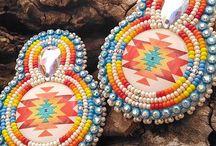 Beaded Earrings / Beaded earrings. Peyote stitch. Bead loom. Brick stitch. Miyuki Delica. Toho Beads. #beadedearrings #earrings #jewelry #jewellery #accessories #giftforher