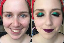 My makeup transformations / By yours truly :)