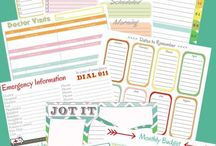 Organization and Lists / Printables and other helpful tools