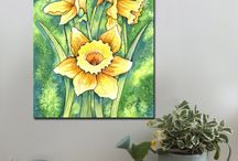 Yellow / Canvas Art Prints, A1 and A2.  www.splashyartystory.com