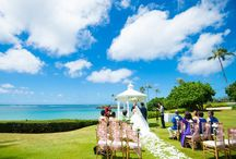 ザ・カハラ・ホテル&リゾート / ハワイ・オアフ島「ザ・カハラ・ホテル&リゾート」のウェディングボード。  ハワイ屈指の人気ホテル「ザ・カハラ・ホテル&リゾート」。 美しいオーシャンブルーが広がる会場は、ふたりとゲストの記憶にいつまでも残ることでしょう♪ 憧れのラグジュアリーホテルで、素敵なガーデンウェディングを叶えてください♡