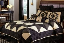Pattern: Carrington / A geo inspired star print in black and cream delivers a fresh look for the home that is equally charming in either casual or formal rooms. / by Piper Classics