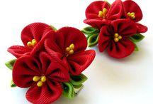 květiny - šité z látky