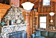 Fireplaces / Stone, Marble, Beautiful fireplaces. We are building our log home and it's time to start getting ideas for our fireplace.