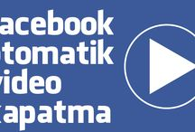 Facebook Otomatik Video Kapatma