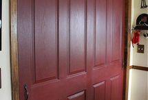 Farmhouse red color behr paint