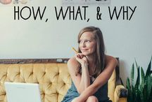 Blogging Strategies / Tips for how to build a blog, network with bloggers, and grow a following