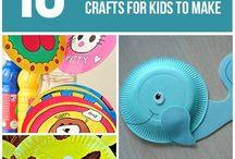 Paper plate KID craft