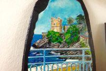Nuovi dipinti su ardesia / Ardesia dipinta a mano