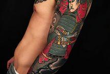 japanese samurai tattoo
