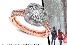 Rose Gold / Topping the trends for Engagement Rings & Wedding Bands? Rose Gold! Check out these rose gold beauties from Love Story & The Promise Collection.