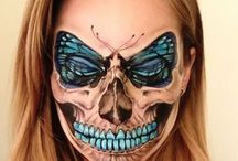 Skull make up / Pretty, scary, awesome.
