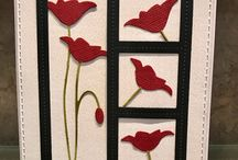 Stitched square frames