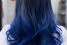 blue hair ombre