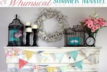 Fireplace Mantles / Beautiful mantles. Fun ways to decorate a fireplace mantle.  The hearth is the center of the home.  / by Megan MNMSpecial