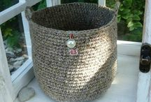 Crochet baskets and boxes