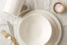 SETTING THE TABLE / Dishes, tablecloths, and other pretty things for the dining table