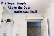 DIY Simple Above-the-Door Bathroom Storage Shelf