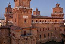 FERRARA - CITY OF ART / Una città di arte e natura, denominata la città delle biciclette. Il centro storico della città è meraviglioso. A view from Ferrara city, nearby Argenta Golf.
