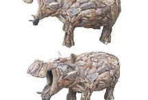 Driftwood Hippo / We supply original, exceptional animal sculptures created from teak tree roots. Our driftwood hippo has strength and durability due to the high oil content of its wood. The driftwood hippo will make a lovely addition to your garden. Please visit our webpage at http://www.driftwoodhorse.co.uk/driftwood-hippo.html for more information or a quotation. Alternatively please ring us on 0845 3731832