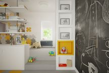 Playful / An interesting solution for the room of a child.