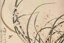 """Chinese Painting / """"The reason for the unreason with which you treat my reason , so weakens my reason that with reason I complain of your beauty."""" ............... Miguel de Cervantes Saavedra / by Peony Chance"""