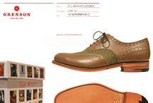 Grenson x Stuarts London / Our collaboration with Stuarts London for S/S '13: Based on our classic Dylan, in limited runs of 10 per shoe, in tones of green, browns and tans for the summer season.