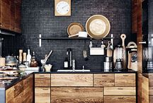Black wood kitchen