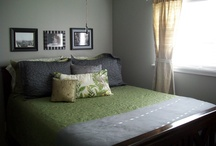 Bedroom / Inspiration for our Green and Grey Bedroom... / by Terri Deeds